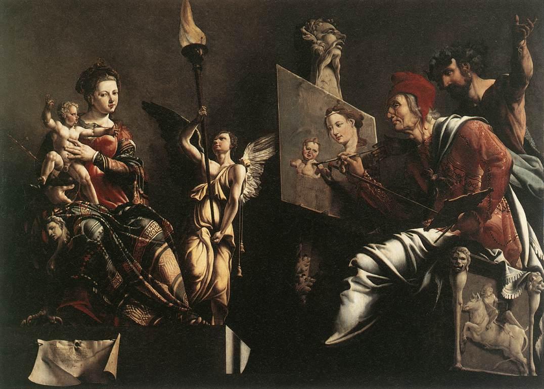 Maarten_van_Heemskerck_-_St_Luke_Painting_the_Virgin_and_Child_-_WGA11299