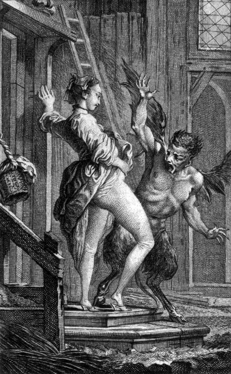 'Le Diable de Papefiguiere' from 'Contes et Nouvelles en vers' by Jean de la Fontaine *engraving *17.8 x 11.4 cm