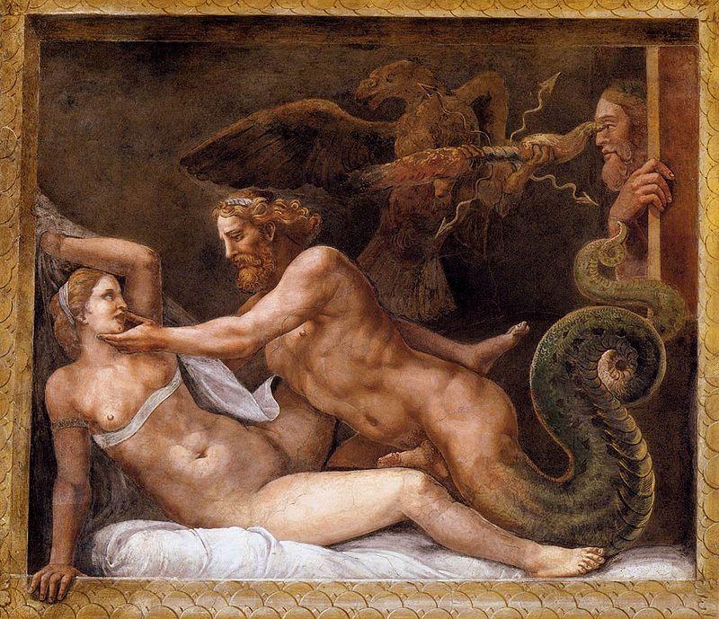Giulio_Romano_-_Jupiter_Seducing_Olympias_-_WGA09573